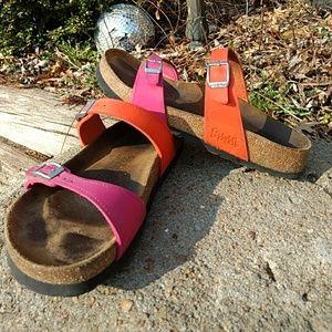 Size 38 pink and orange birkis